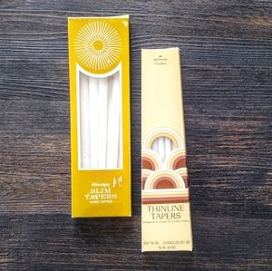 Two Boxes of MCM Vintage Thin Taper Candles